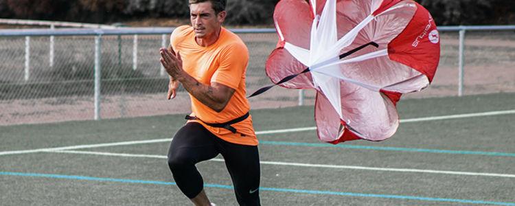 Parachute de vitesse, exercice explosivité football