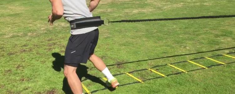 Elastique de survitesse, exercice explosivité football