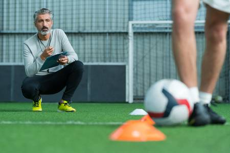 Chronomètre entraîneur de football